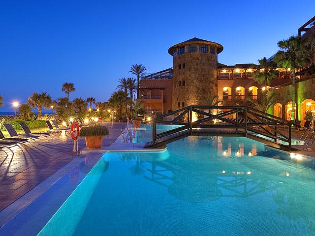Gran Hotel Elba Estepona & Thalasso Spa - Swimming Pool Night View