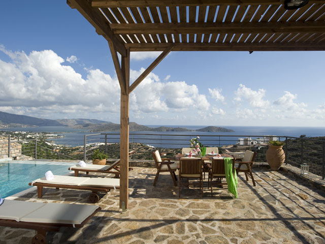 Elounda Solfez Villas - Exterior View Pool Area