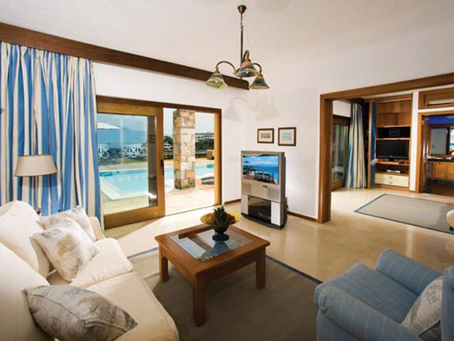 Elounda Beach Exclusive  & Platinum Club - Elounda Beach Exclusive Club  Hideaway Villas Living Room